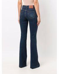 Alexander McQueen Stretch Bootcut Jeans - Blue