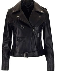 "Arma ""kylie"" Biker Jacket - Black"