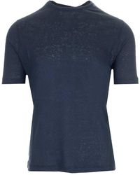 Al Duca d'Aosta Crewneck Basic T-shirt - Blue
