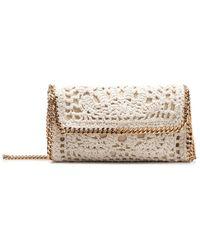Stella McCartney Crochet Chain Crossbody Bag - Natural
