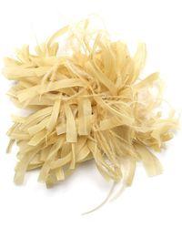 Max Mara Feathers And Silk Embellishment - Yellow