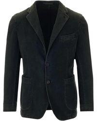 Al Duca d'Aosta Dark Green Velvet Jacket