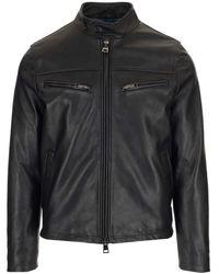 Al Duca d'Aosta - Black Leather Jacket - Lyst