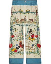 Gucci Pantaloni in seta Disney x - Multicolore