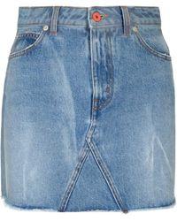 Heron Preston - Denim Mini Skirt - Lyst