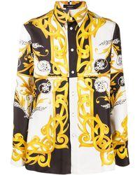 Versace Barocco Acanthus Print Silk Shirt - Multicolour