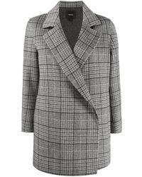 "Theory Cappotto ""clairene"" In Lana - Grey"