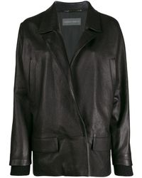 Alberta Ferretti Black Over Leather Jacket