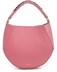 Wandler Corsa Mini Tote Bag In Coral Leather - Pink