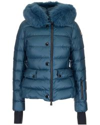 "3 MONCLER GRENOBLE Piumino ""armonique"" Verde Acqua - Blue"