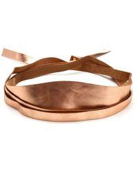Forte Forte Soft Leather Belt - Brown