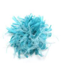 Max Mara Turquoise Hair Pin And Brooch - Blue
