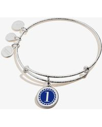 ALEX AND ANI - Color Infusion Numerology One Charm Bangle Shiny Silver - Lyst