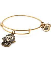 ALEX AND ANI - Hand Of Fatima Charm Bangle - Lyst