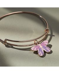 ALEX AND ANI - Butterfly Charm Bangle Eb - Lyst