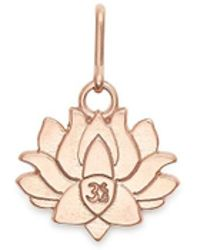ALEX AND ANI - Lotus Peace Petals Necklace Charm - Lyst