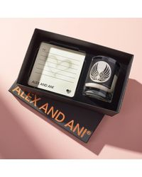 ALEX AND ANI Votive Candle 2.1 Oz Wings Gift Box - Black
