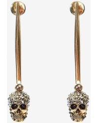 Alexander McQueen - Stick Skull Earrings - Lyst