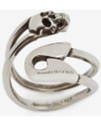 Alexander McQueen - Safety Pin Ring - Lyst