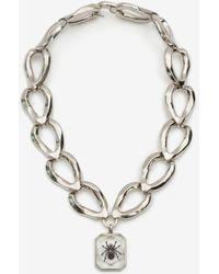 Alexander McQueen Spider Resin Necklace - Metallic