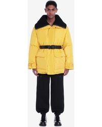 Alexander McQueen Mcqueen Graffiti Oversized Puffer Jacket - イエロー