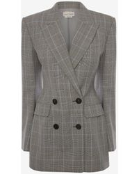 Alexander McQueen - Double-breasted Prince Of Wales Jacket - Lyst