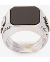 Alexander McQueen Stone Ring - メタリック
