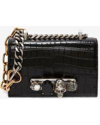 Alexander McQueen Mini Jewelled Satchel - ブラック