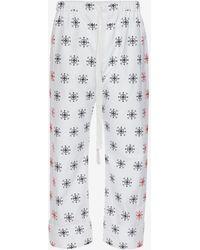 Alexander McQueen - Cotton Oxford Bandana Pants - Lyst