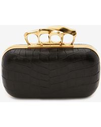Alexander McQueen Sculptural Four-ring Clutch Bag - Black