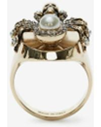 Alexander McQueen Gold Spider Ring - Metallic