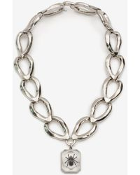 Alexander McQueen Spider Faceted Chain Necklace - Metallic