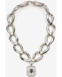 Alexander McQueen - Facettierte Halskette mit Spinne - Lyst