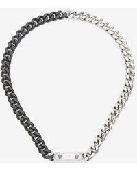 Alexander McQueen Halskette Identity - Mettallic