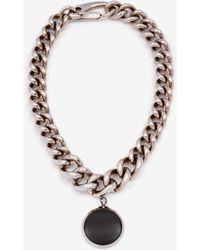 Alexander McQueen Oversize Chain Hook Necklace - メタリック
