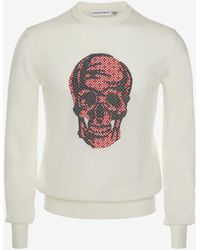 Alexander McQueen - Skull Jacquard Sweater - Lyst