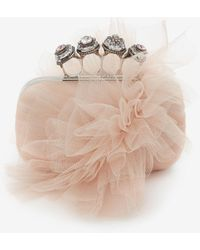 Alexander McQueen Spider Jewelled Four-ring Box Clutch - ピンク