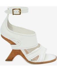 Alexander McQueen No.13 Wedge Sandal - White