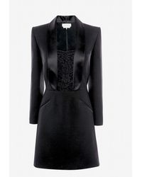 Alexander McQueen Mini robe façon smoking - Noir