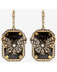Alexander McQueen - Butterfly Earrings - Lyst