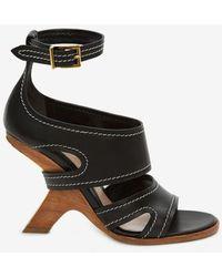 Alexander McQueen No.13 Wedge Sandal - Black