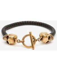 Alexander McQueen - T Bar Skull Bracelet - Lyst