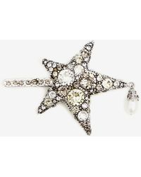 Alexander McQueen Gold Star Hair Slide - Metallic