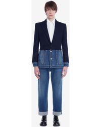 Alexander McQueen Wide Leg Jeans - Bleu