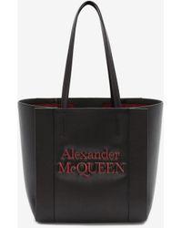Alexander McQueen スモール シグネチャー ショッパー - ブラック