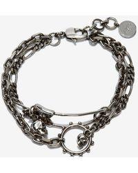 Alexander McQueen Safety Pin Bracelet - Metallic
