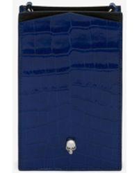 Alexander McQueen Custodia per smartphone con catena Skull - Blu