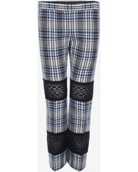 Alexander McQueen Macramé Celtic Check Tailored Pants - Multicolor