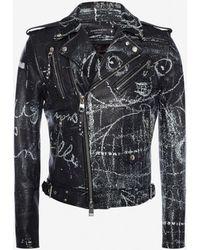 Alexander McQueen Bikerjacke aus Leder John Deakin - Schwarz