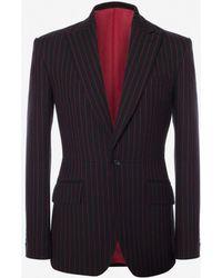 Alexander McQueen - Pinstripe Tailored Jacket - Lyst